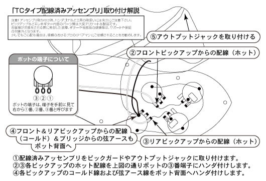 TCアッセンブリ配線図