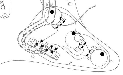 ストラト ノーマル回路図
