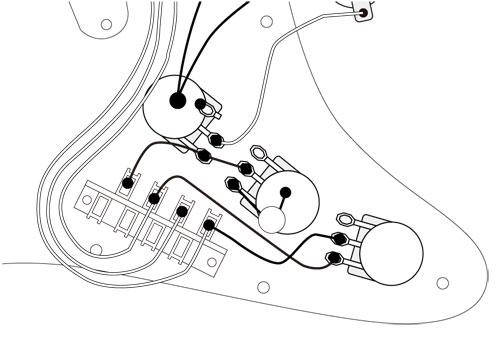 ストラト T-SOUND回路図