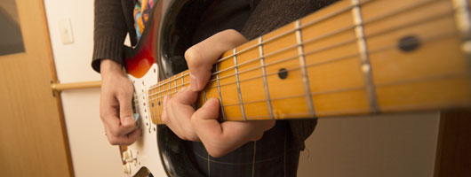 ギターチョーキングの図