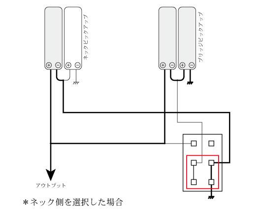 2ハムプライベート配線_ネック側選択