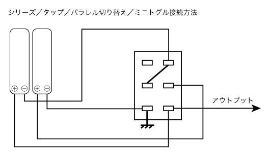 シリーズ/タップ/パラレル切り替えて接続方法