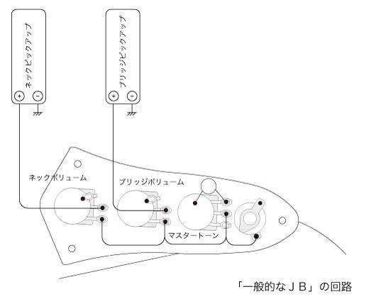一般的なジャズベース回路(パラレル)