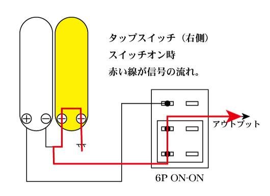 右側のコイルを使うタップ